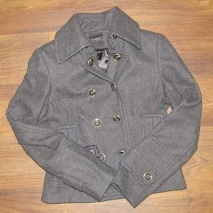 Express Jacket Grey Double Button 60% Wool Winter